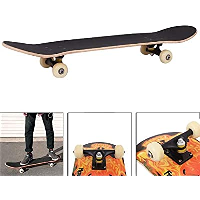 Timegard Complete Skateboard Top Stained 31.5 inch Skate Boards for Youths Beginners : Sports & Outdoors