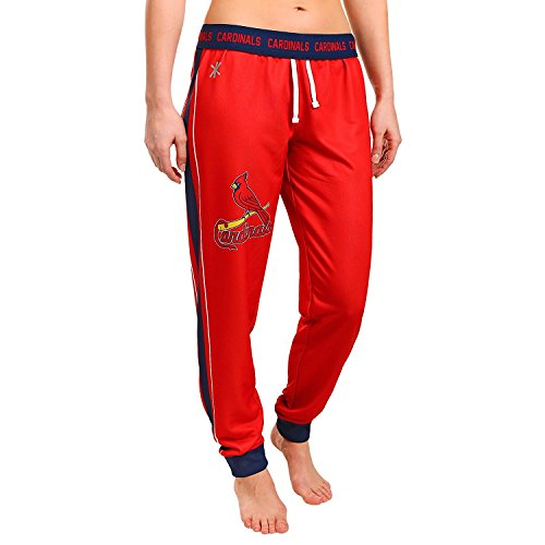 Klew St. Louis Cardinals MLB Womens Cuffed Jogger Pants, Red