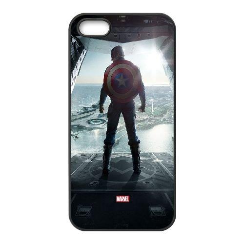 Captain America The Winter Soldier2 coque iPhone 4 4S cellulaire cas coque de téléphone cas téléphone cellulaire noir couvercle EEEXLKNBC24023