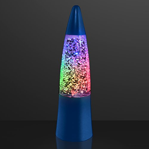 Blue Shake & Sparkle Light Up Mini Rocket Lamps ()