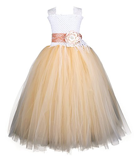 Tutu Dreams Flower Girl Dresses for Teens Gold (10, (Puffy Costumes)