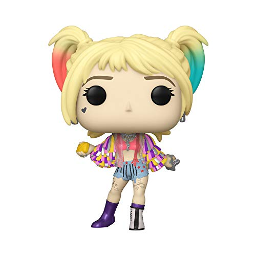 Funko Pop Heroes Birds of Prey- Harley Quinn (Caution Tape), Multicolour, Estandar