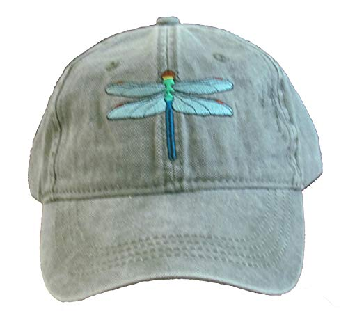 Tom's Bird Feeders Dragonfly Embroidered Cotton Cap Green