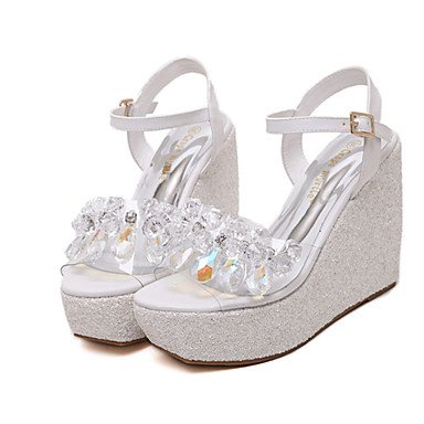 Us5 Synthetic Uk3 Wedge Silver Eu35 Golden RTRY Heel Casual Blushing Summer Pink Women'S White White Cn34 5wF76qp