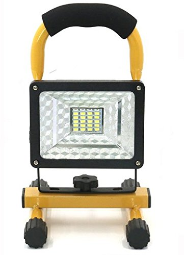 soled 15W 24LED Waterproof Spotlights Work Lights Outdoor Camping Lights, Built-in Rechargeable Lithium Batteries & USB Ports to charge Mobile Devices,Yellow