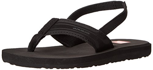 Quiksilver Monkey Wrench Toddler Sandal (Toddler), Black/Black/Brown, 9 M US Toddler (Sandals Quiksilver Woven)