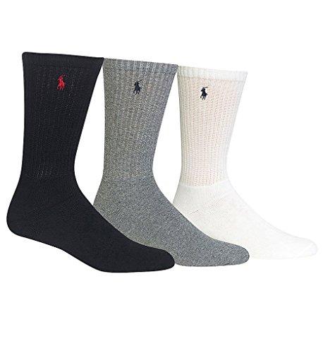 Polo Ralph Lauren men's socks Classic Cotton crew assorted 3 - Origin Of Ralph Lauren Country