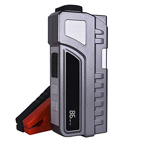S-Y 1000A Peak 20000mAh Portable Car Jump Starter with AC Output Dual QC2.0 USB Ports Built-in LED Flashlight for Outdoor, Emergency and More