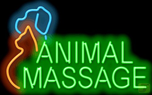 Animal Massage Neon Sign by Jantec Sign Group
