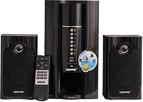 Geepas GMS7493N 2 1 Channel Home Thaeater System (Black