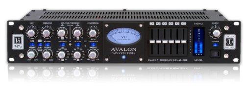 Avalon Design VT-747SP-B | Tube Stereo Discrete Class-A Spectral Opto-Compressor 6 Band Passive EQ Black