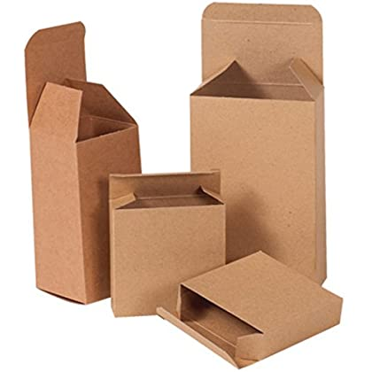 Image of Box Mailers Bauxko 4 1/2' x 3 1/2' x 5' Kraft Reverse Tuck Folding Cartons, Case of 250 (xRTS89-Case)