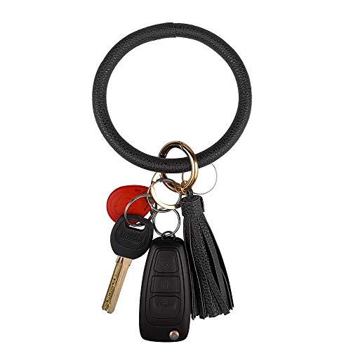 Leather Bracelet Key Ring