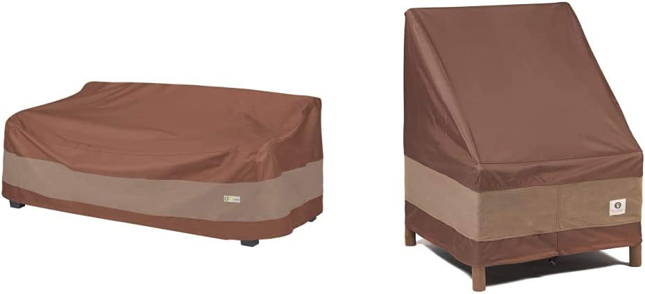 Duck Covers Ultimate Waterproof 93 Inch Patio Sofa Cover & Covers Ultimate Waterproof 36 Inch Patio Chair Cover