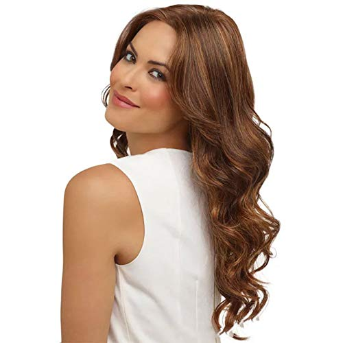 Asda Halloween Wigs (Fashion women's wig, natural long hair, large wave, heat-resistant high-temperature silk chemical fiber wig, wig, cosplay)