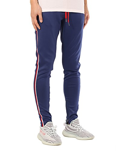 JD Apparel Men's Skinny Fit Track Jogger Sweatpamnts 2XL Blu