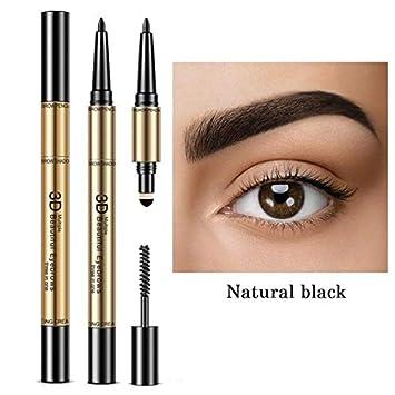 Amazon.com   3 In 1 Eyebrow Set For Women Waterproof Eyebrow Pencil Powder  And Brush Pigment Black Brown Eyebrow Kit 1   Beauty fcea56366