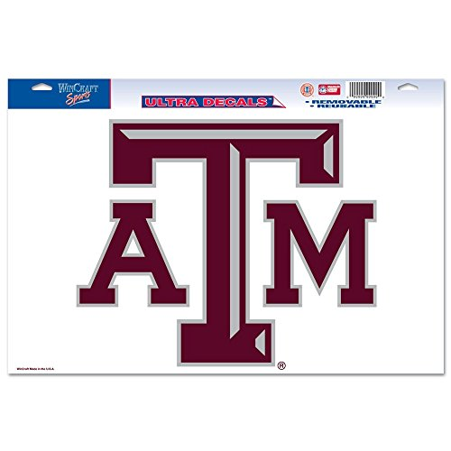 "NCAA Texas A&M University 66352091 Multi Use Decal, 11 x 17"", Black"