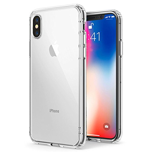 iPhone X Case, Thin Crystal Clear Phone Cover, Slim Fit Protective Hard Shell, Drop Protection TPU Bumper Apple iPhone X / iPhone 10 (Apple Iphone Clear Shell Cover)