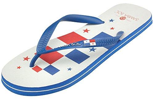 Samba Sol Hommes Collection Drapeau Flip Flops - À La Mode Et Confortable. Sandales À La Mode Et Classiques Pour Hommes. Panama