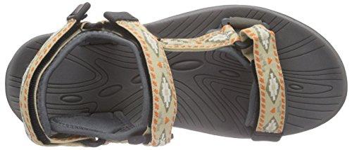 Northland Outback Sandals - Sandalias de Punta Descubierta Hombre multicolor - Mehrfarbig (taupe/khaki 9)