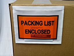 Packing List Envelopes Enclosed Full Face Top Load 2.0 Mil Thick - 7.5\