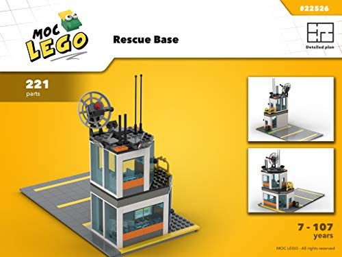 Rescue Base (Instruction Only): MOC LEGO por Bryan Paquette