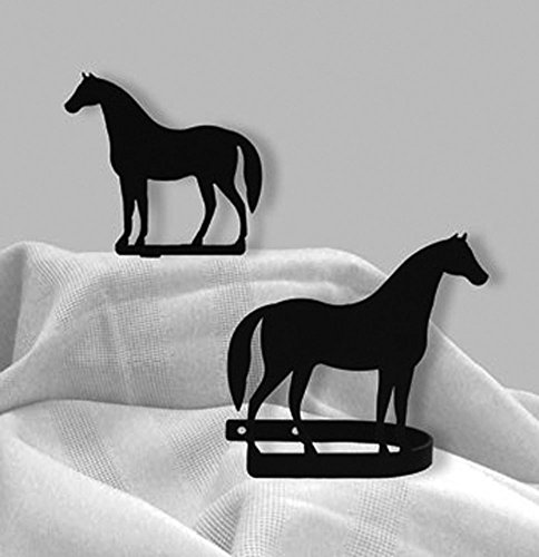 Wrought Iron Standing Horse Curtain Tie Backs (Wrought Iron Head)