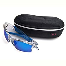 Sports Polarized Sunglasses UV Protection Sunglasses for Fishing Golf Motorcycle (Transparent)