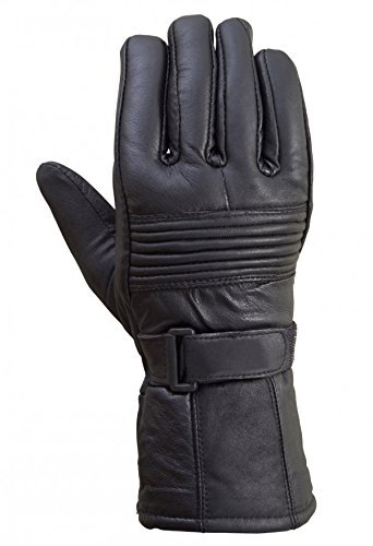 Original Drum Dyed Cowhide Motorcycle Biker Riding Gloves Thermal Lining by Xtreemgear (M)