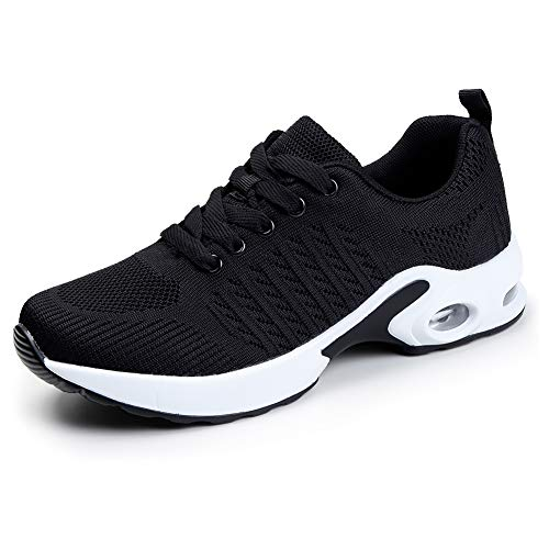 Women Air Cushion Running Shoes Lightweight Sport Lace Up Athletic Walking Shoes 7.5 M US(1859hei39)