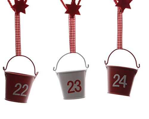 Christmas Advent Calendar, Iron Bucket Garland