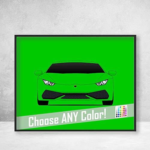 Lamborghini Huracan Poster Print Wall Art Decor Handmade LP 640-4 580-2 Coupe Avio Spyder ()