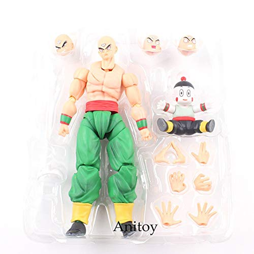 Flowe Mow Dragon Ball Z - Tien Shinhan with Chiaotzu PVC DBZ Action Figure - Tenshinhan Collectible Model Toy]()