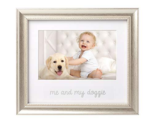 (Lil Peach Me and My Doggie Keepsake Frame, Silver)