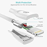 Amazon.com: iPhone cargador corto Cable Lightning – [Apple ...