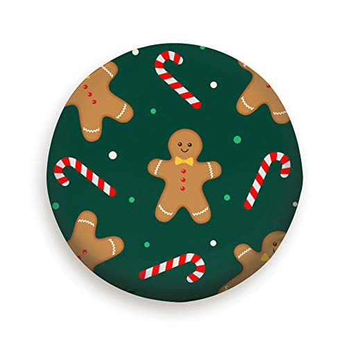 Christmas Gingerbread Man Candy Food and Drink Spare Tire Cover, Waterproof Dust-Proof Thicken Wheel Protectors Covers Fit 14-17 Inch 16 Inch]()