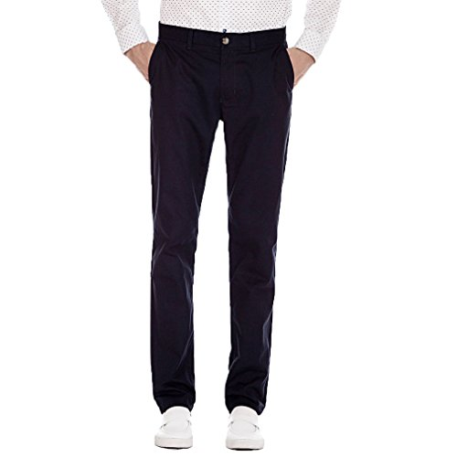 Autumn New Men's Business Casual Slim Trousers(Navy Blue) - 1