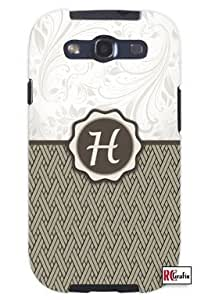 Cool Painting Monogram Initial Letter H Unique Quality Hard Snap On Case for Samsung Galaxy S4 I9500 - White Case