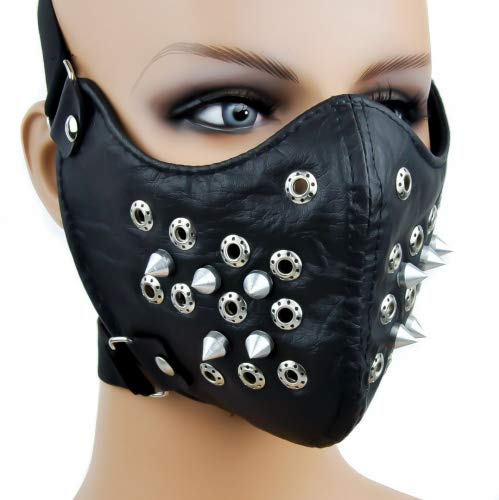 (Bonlting Black Spike Motorcycle Face Mask Protective Paint Ball)