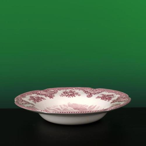 Johnson Brothers Old Britain Castles 8-1/2-Inch Rim Soup Bowl, Pink