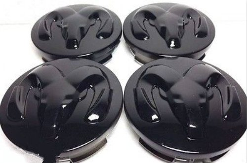 Gosweet 4X Brand NEW Four Pcs Set For Dodge Black Wheel Center Hub Caps 2.5