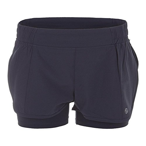 Lija Short - Lija Women`s Metro Tennis Short Slate Gray-(690309565357)