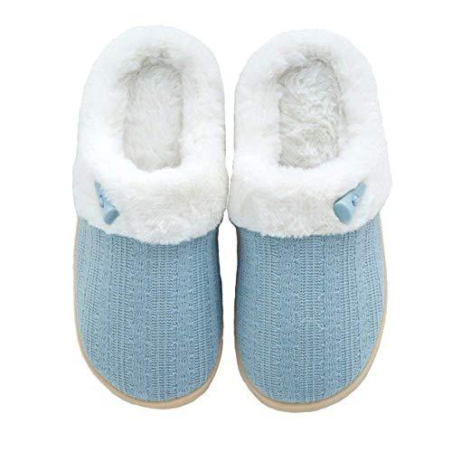 Antiscivolo Foam Casa Blue Donna Pantofole Da D'inverno Suole Soft Memory Cotone Cczz Caldo AnTq8W4n