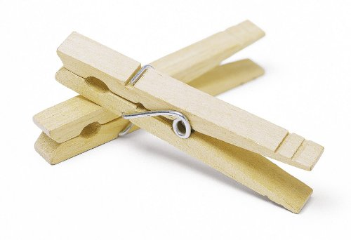 Whitmor Heavy-Duty Natural Wood Clothespins, 100 pins