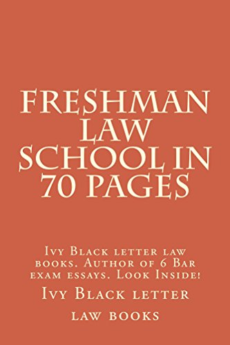 Freshman Law School In 70 Pages: (e book)