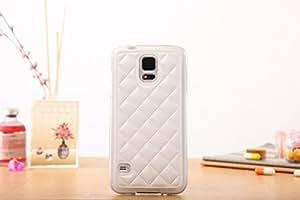 iNenk por Samsung Galaxy S6 Edge Funda, reg; Suave TPU PU Cuero Teléfono Funda Sólido Moda Creativo Cubrir Manga protectora por mujeres hombres-Blanco
