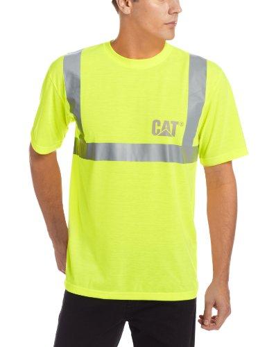 (Caterpillar Men's Big Hi-Vis T-Shirt (Regular and Big & Tall Sizes), Yellow, X Large Tall)