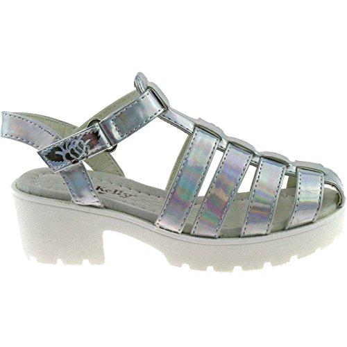 Lelli Kelly LK7477 (AH01) Silver Vivian Closed Toe Sandals-38 (UK 5)