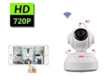 New security camera 2 Way Audio 1280x720p Baby Video Monitor with Night Vision White - AOLANS